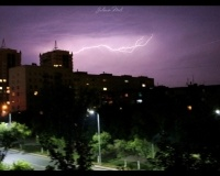 Молнии в Павлодаре