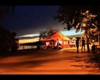 Павлодарская набережная ночью