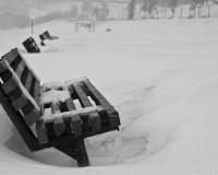 Набережная в снегу