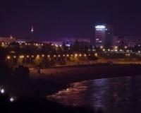 Ночной Павлодар. Набережная