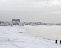 Зимний Павлодар. Набережная