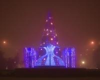 Зимний Павлодар. Новогодняя елка