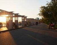 Закат на павлодарской набережной