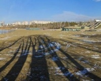 Павлодарский пляж осенью