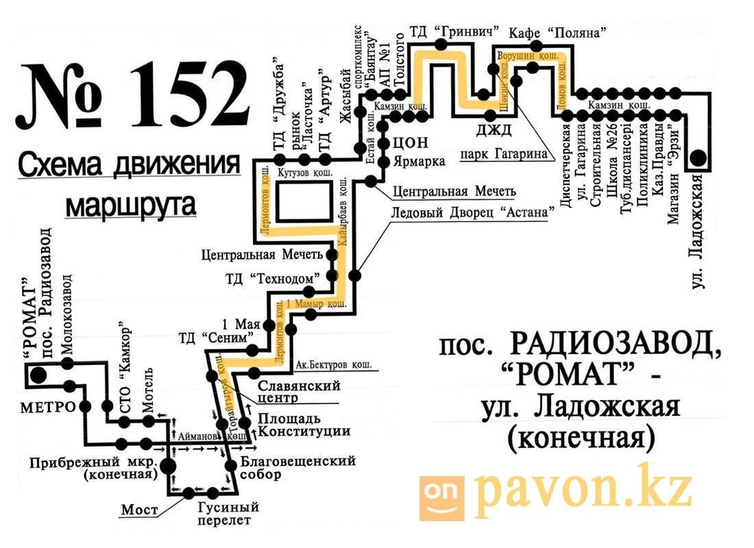 схема движения автобуса 9 в павлодаре