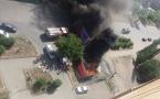 В Павлодаре сгорел цветочный павильон