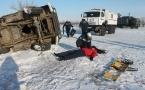 В Павлодаре провели учения по спасению в условиях зимнего периода