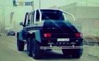 Шестиколесный «Гелендваген» прикидывается машиной из автопарка президента РК