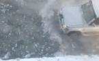Из-за аварии на сетях улицы Павлодара оказались под водой