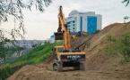 В Павлодаре начались строительные работы по расширению набережной