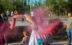 В Павлодаре День молодежи отметили фестивалем красок