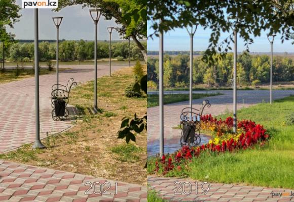 Фоторепортаж: с новой набережной в Павлодаре исчез газон