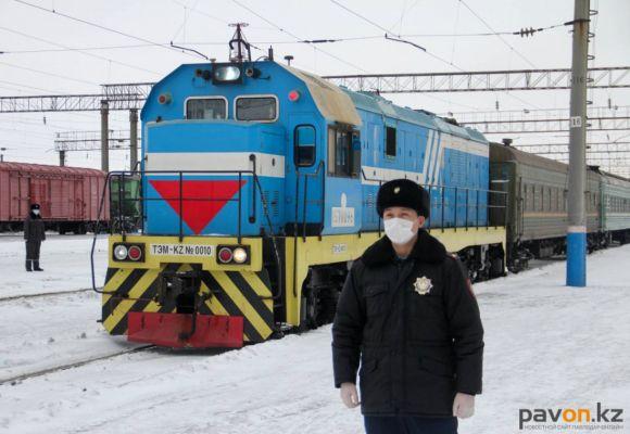 В Павлодаре железнодорожники провели учения по предотвращению распространения коронавируса