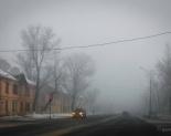 Мартовский туман в Павлодаре