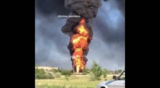 Крупный пожар произошел в Павлодаре