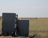 На полигоне автоматы грохотали