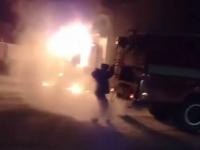 В Павлодаре, в районе сталелитейного завода сгорел грузовик