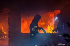 В Аксу сгорел продуктовый магазин