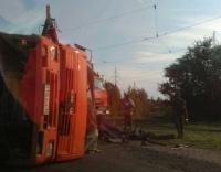 КамАЗ, который перевернулся у ТЭЦ-1, остался неопознанным