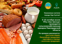 Павлодарские фермеры и предприятия повезут свою продукцию на сельхозярмарку в Нур-Султан