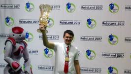 Павлодарский студент выиграл золото в Международном фестивале робототехники