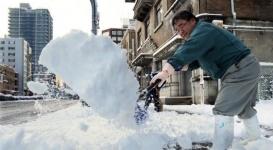 Девять человек стали жертвами снегопадов в Японии