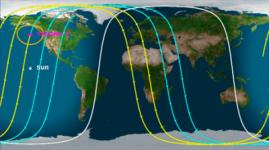 Китайский спутник падает на Землю в районе Казахстана
