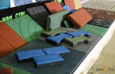 В Павлодаре запустили производство тротуарной плитки из резины