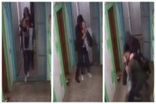Ограбление девушки в подъезде дома попало на камеру в Павлодаре
