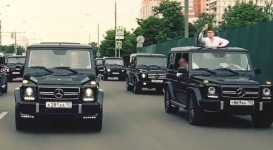 Заезд выпускников академии ФСБ на Gelandewagen взорвал Рунет