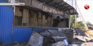 Двух девушек из взорвавшегося в Таразе киоска вынес таксист