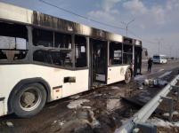 Вблизи поселка Ленинский сгорел пассажирский автобус