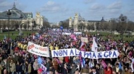 Полмиллиона французов вышли на протест против однополых браков
