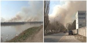 Павлодарцы задыхаются от дыма полыхающей степи