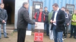 Михаилы пожертвовали на строительство храма в Павлодаре