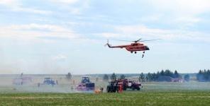 Казахстанско-российские пожарно-тактические учения прошли в Павлодаре