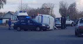 Водителя Ауди, столкнувшегося с автозаком в Павлодаре, могут лишить прав
