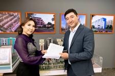 Банк выдал первый заем на строящееся жилье по программе «Баспана Хит»