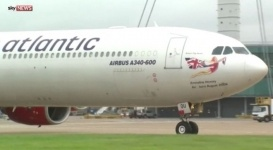 Пилота самолета Virgin Atlantic ослепили лазером в небе
