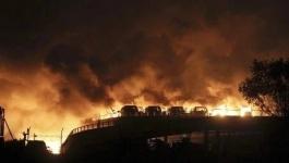 В китайском портовом городе Тяньцзин произошел мощный взрыв (видео)
