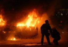 В Прииртышье на трассе сгорел пассажирский автобус
