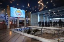 На ЖД-вокзале презентовали первый собранный в Павлодаре LED-экран