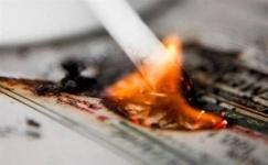 В Павлодаре произошел очередной пожар из-за непотушенной сигареты