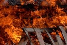 В доме многодетной матери из поселка Ленинский произошел пожар