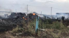 В Павлодарской области сгорели более 100 тонн сена и баня