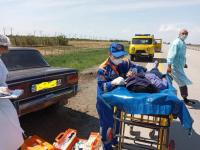 Автомобиль с тремя пассажирами перевернулся в Павлодарской области