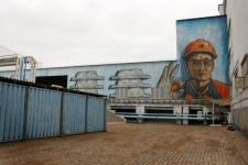 Огромная аэрография появилась на стенах Казахстанского электролизного завода