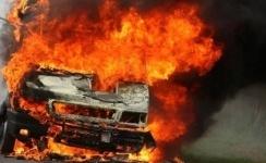 В Прииртышье на трассе сгорела грузовая «Газель»