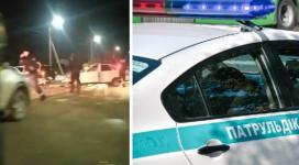 """Экибастузец на Lada Priora выехал на """"встречку"""" и врезался в патрульное авто"""