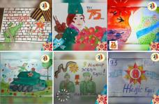 В Экибастузе ко Дню Победы создают видеополотно из полутысячи детских рисунков